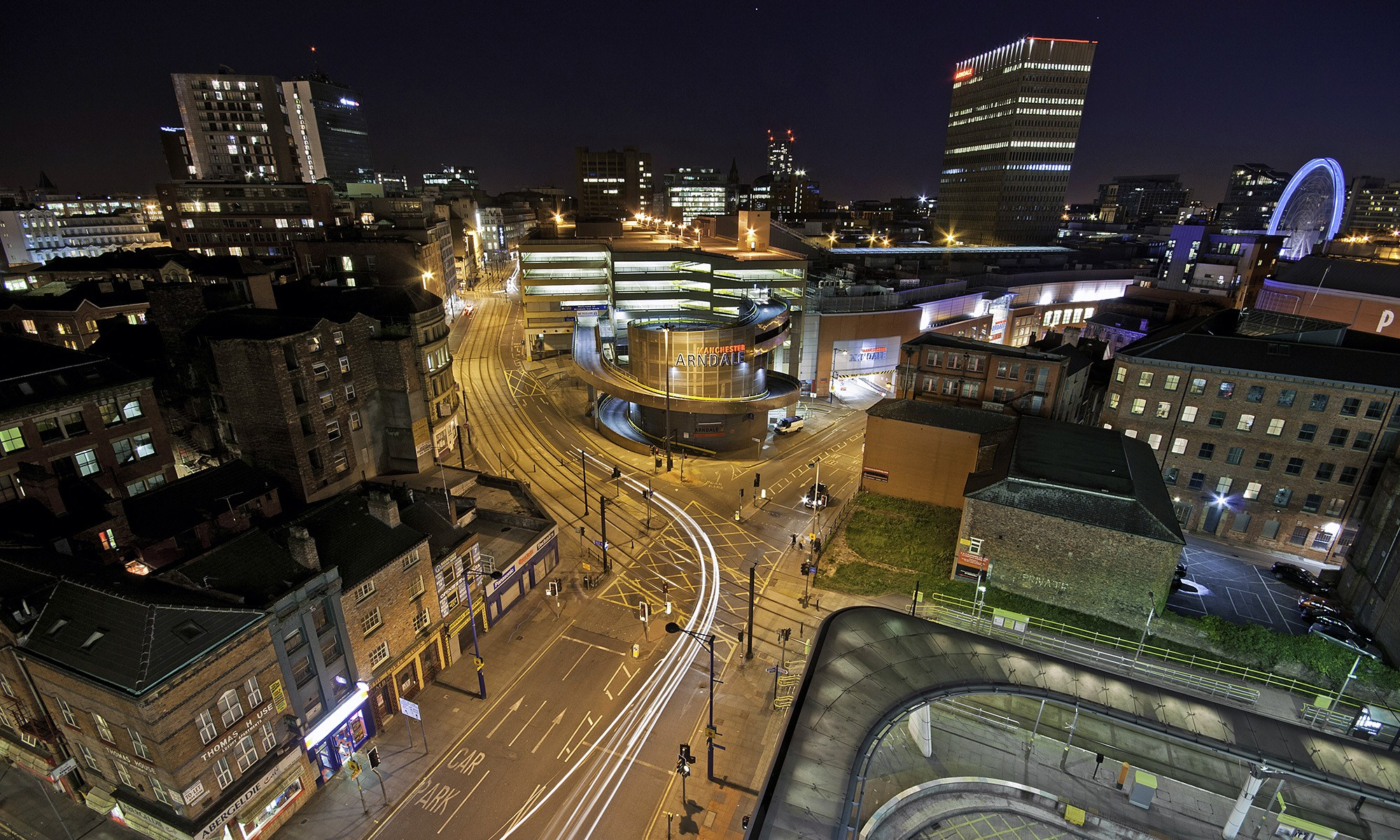 Manchester Skyline at Night