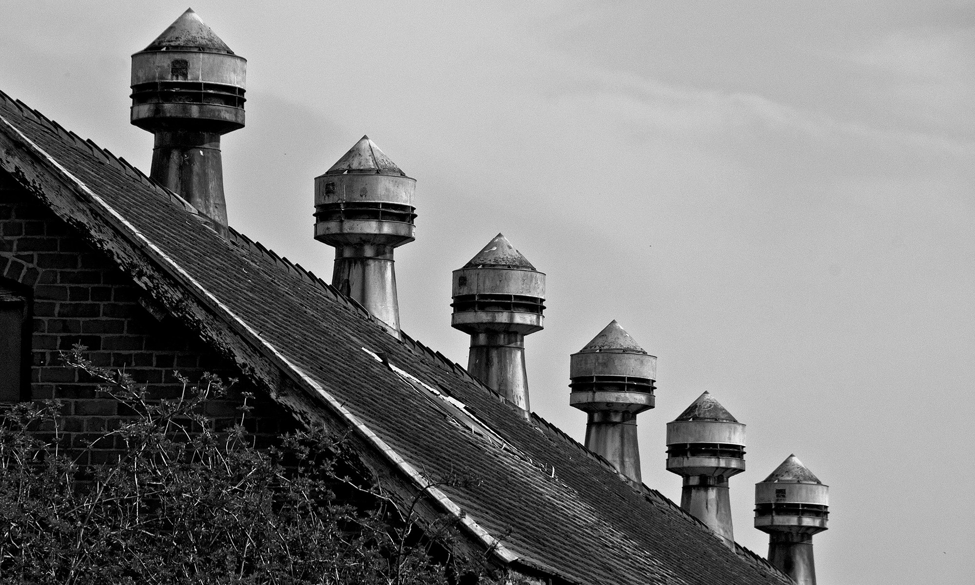 Ventilation Chimneys on Barn