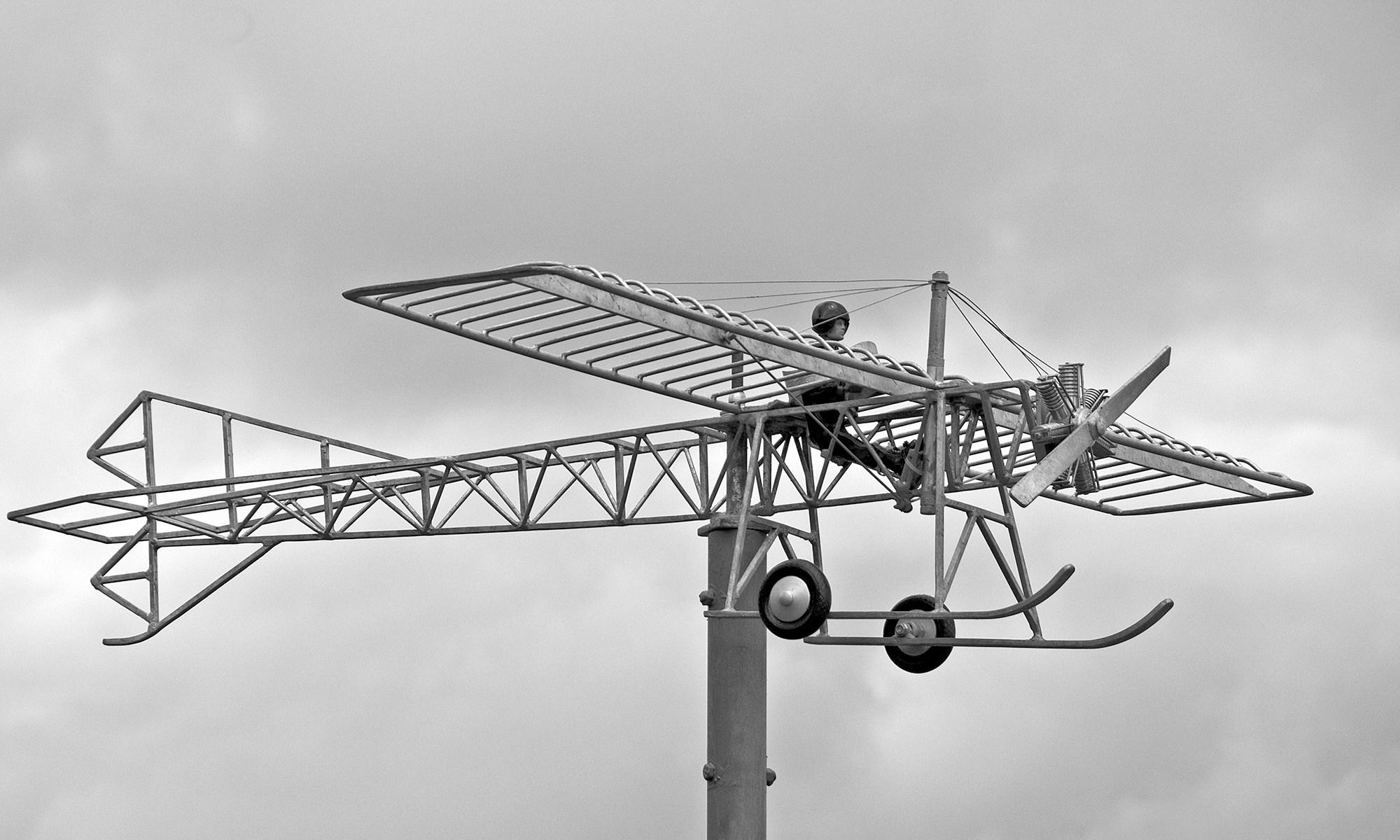 Plane Sculpture in Filey