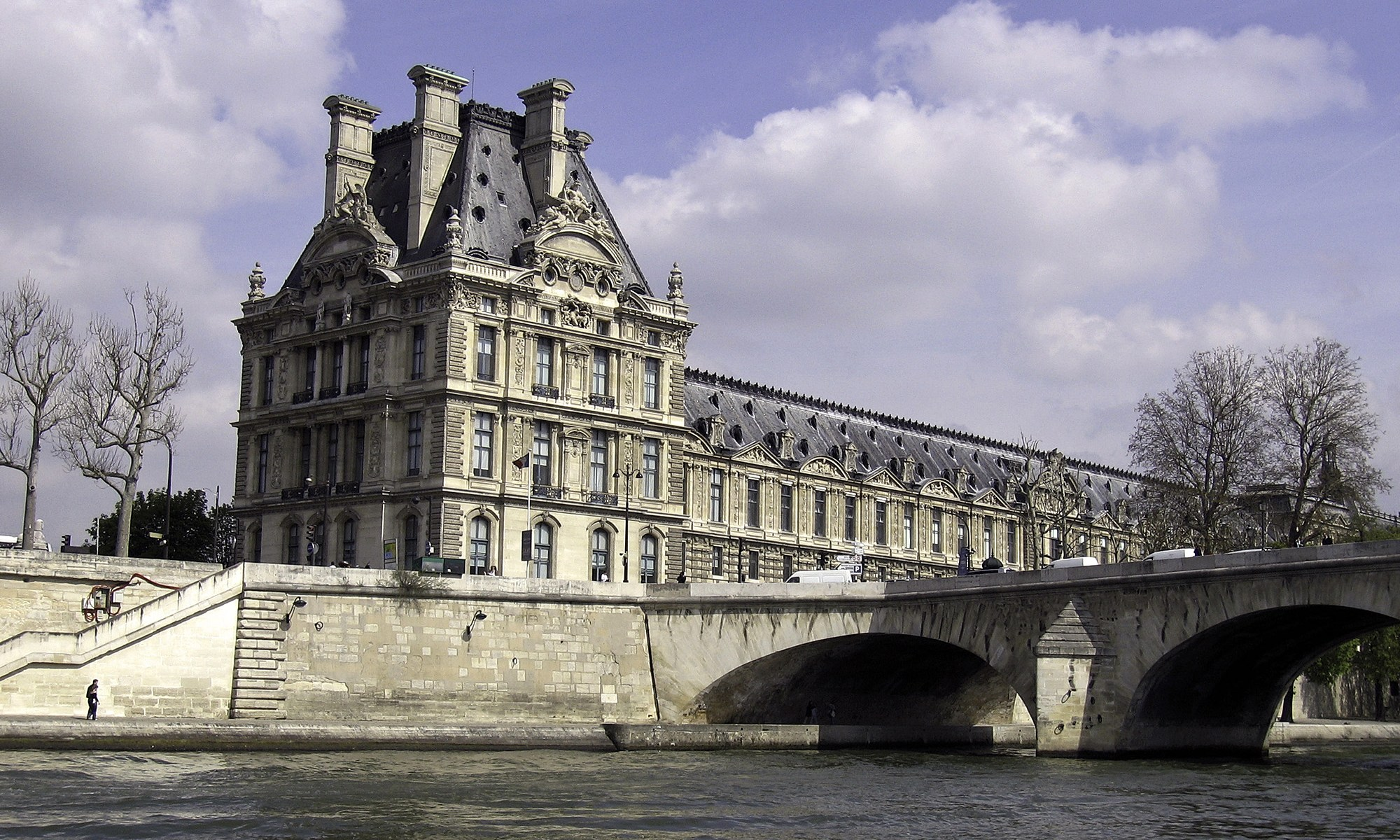 Ecole du Lourve from the River Seine