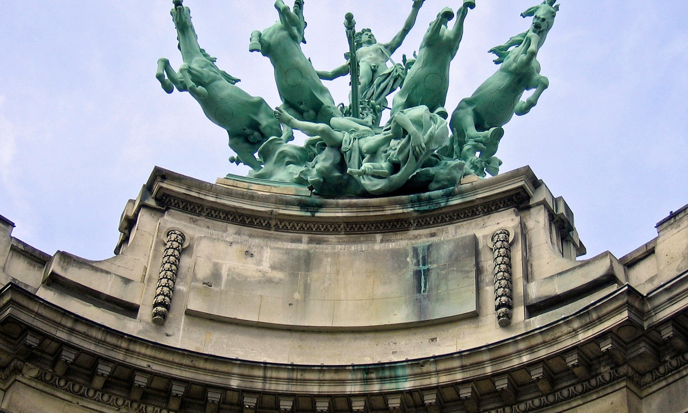 Statue at Le Grand Palais Paris