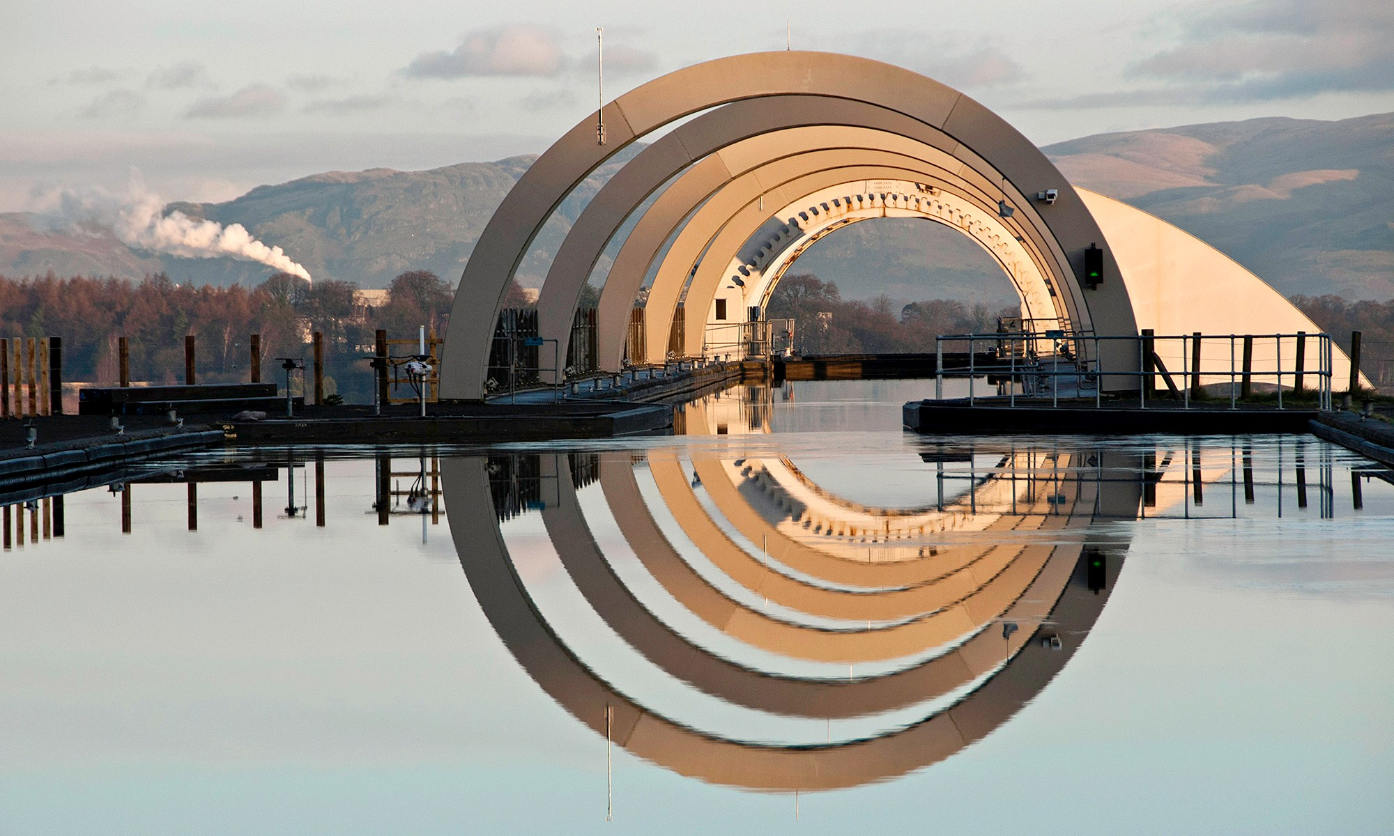 Falkirk Wheel Reflection