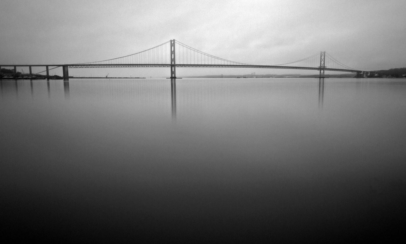 Forth Road Bridge Black and White