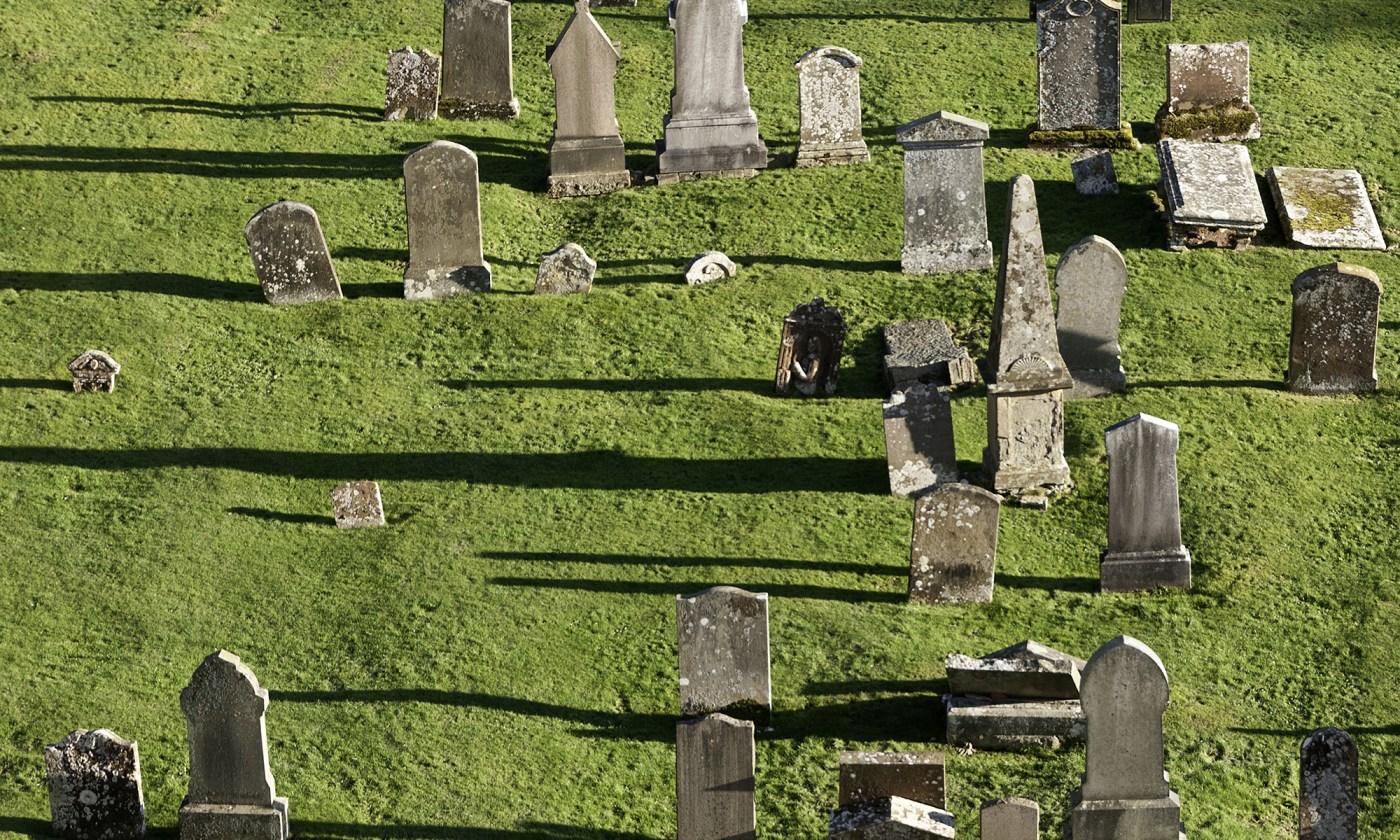 Graveyard at Melrose Abbey