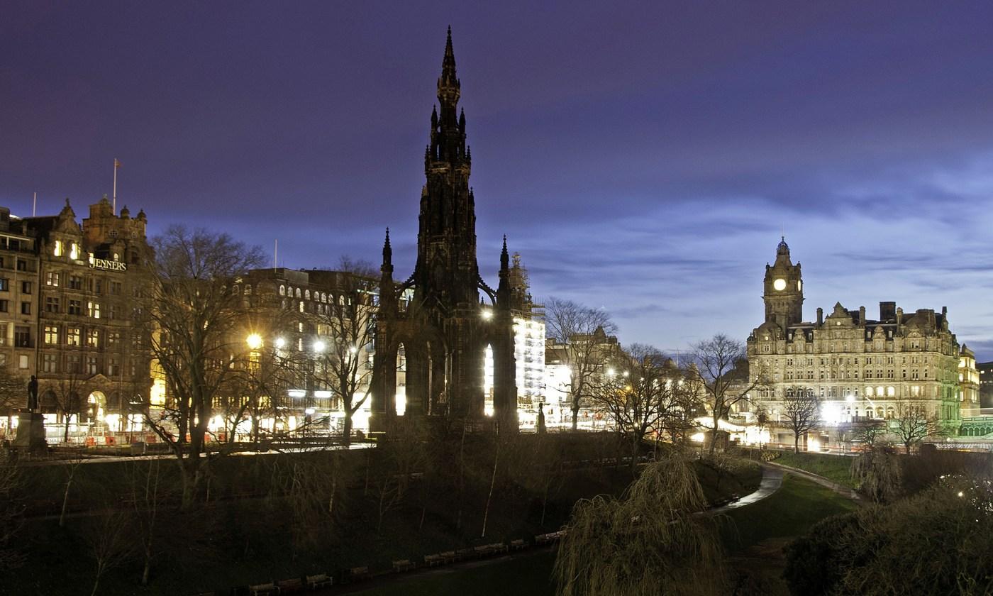 Princes Street Gardens at Night Edinburgh