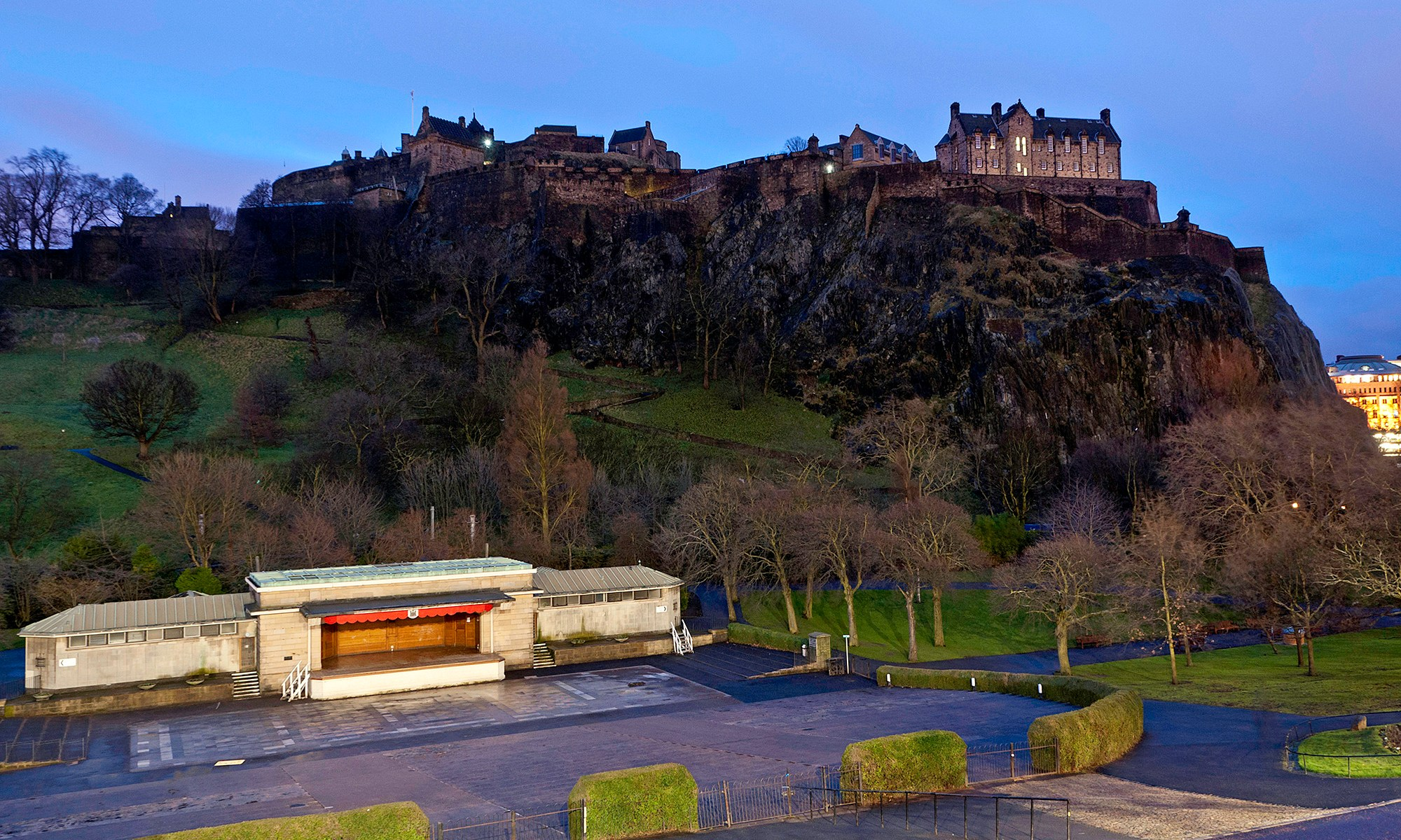 Ross Bandstand at Princes Street Gardens Edinburgh