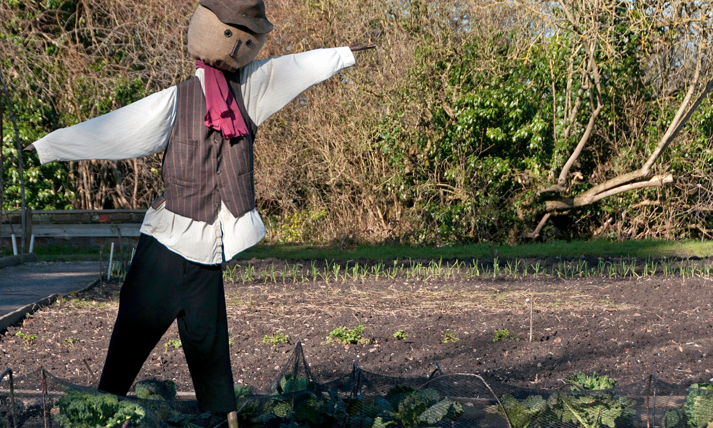 Scarecrow at Quarry Bank Mill