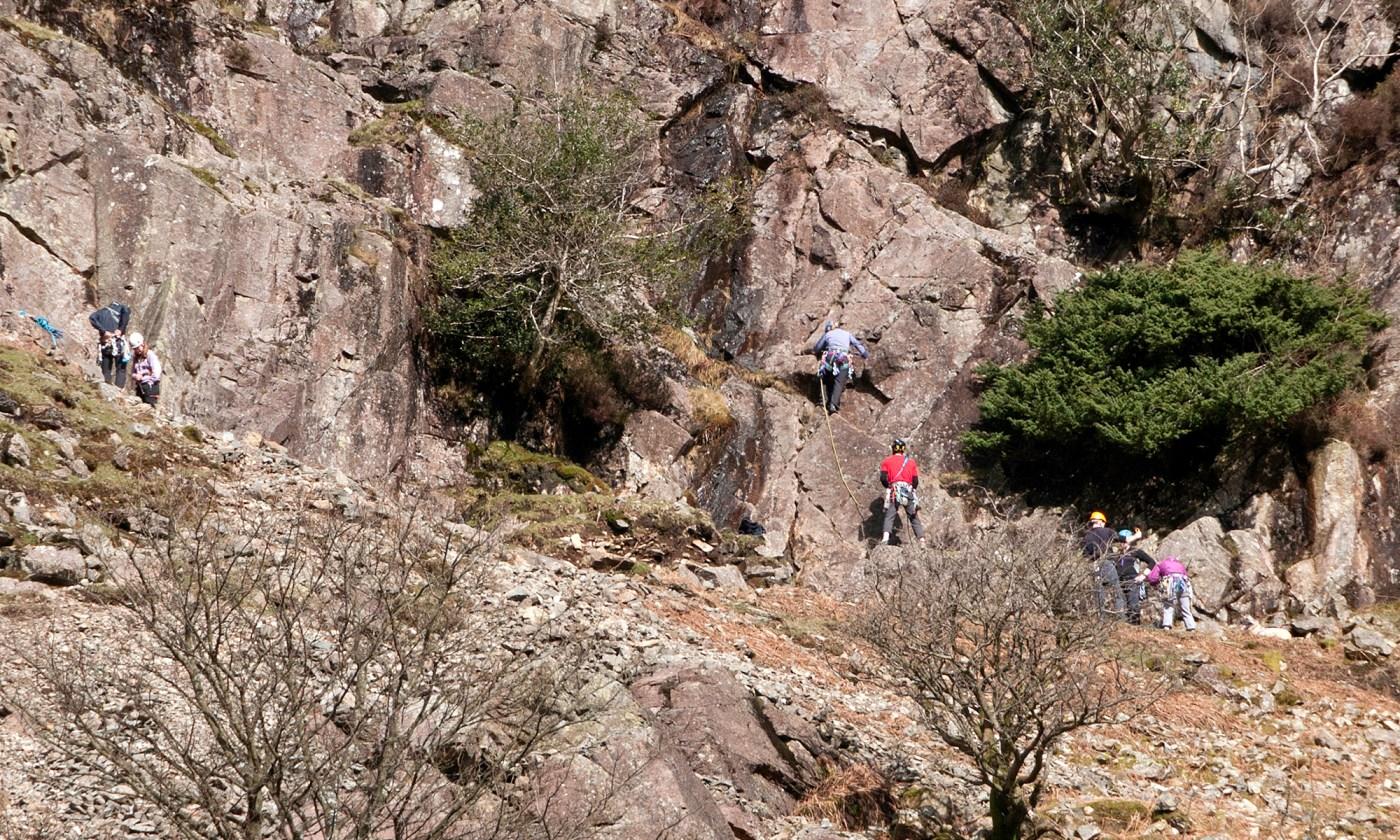 Mountain Climbers on Scout Crag