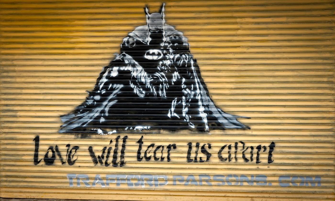 Love will tear us apart graffiti