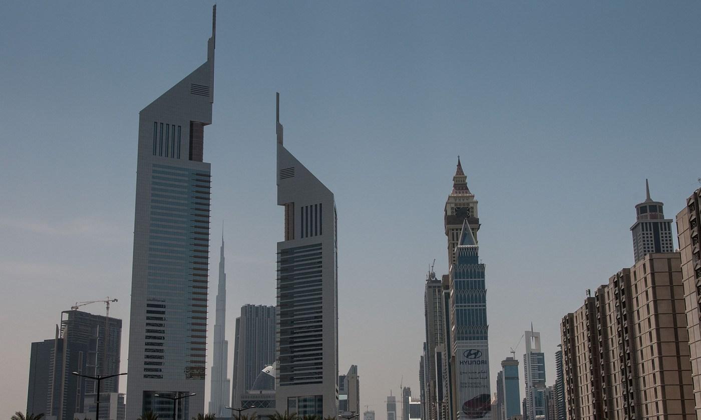 Emirates Towers Dubai Skyline