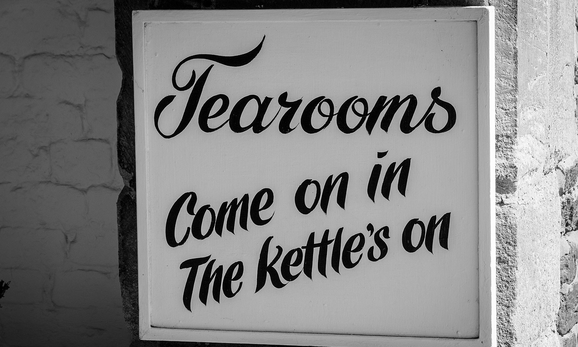 Tearoom Sign
