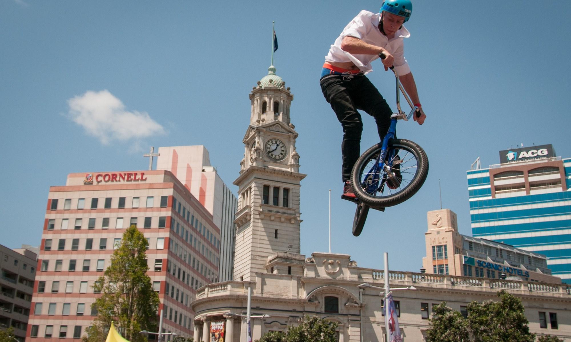 BMX Air at Aotea Square Auckland