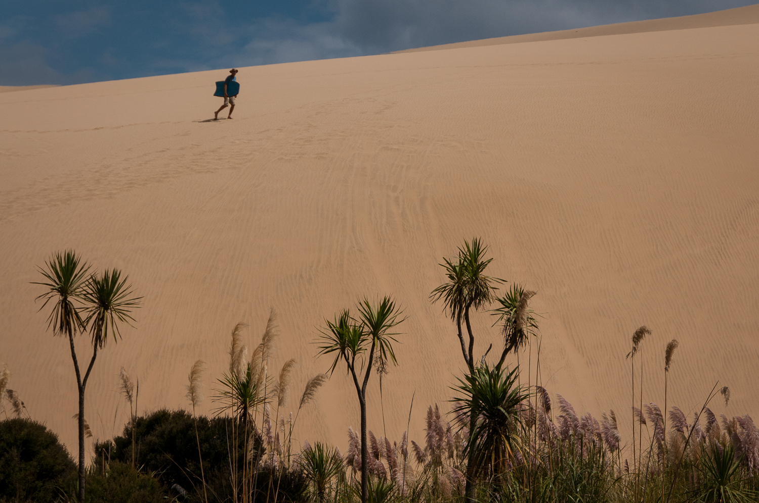 Body boarder on Sand Dune