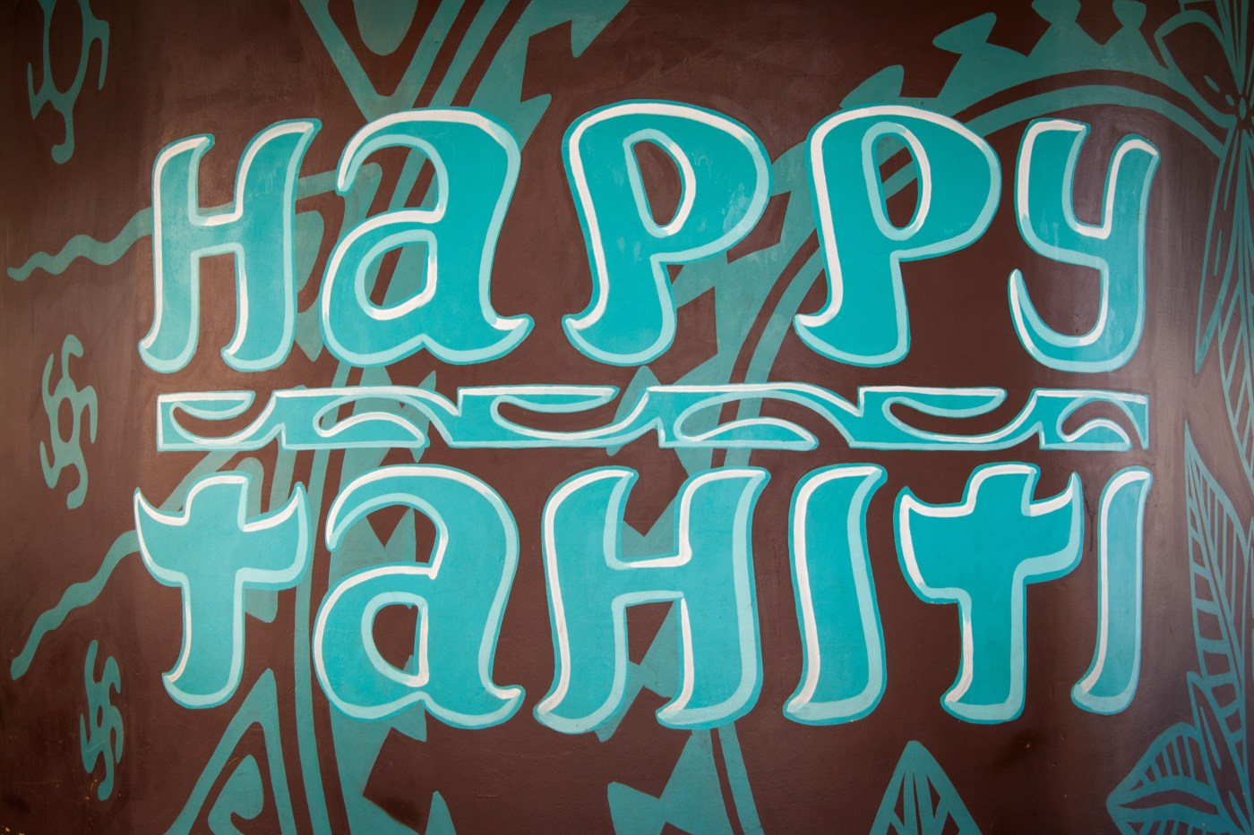 Happy Tahiti Mural