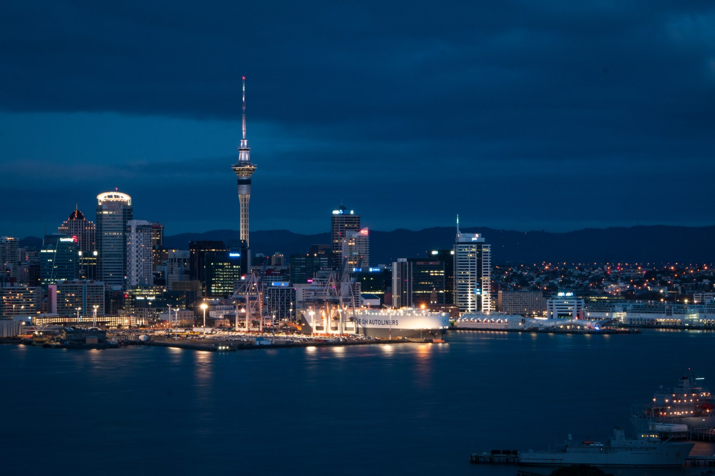 Auckland SkyTower at Dawn