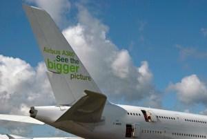 A380 Plane's Tail Fin