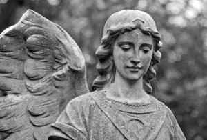 Angel Statue in Black & White