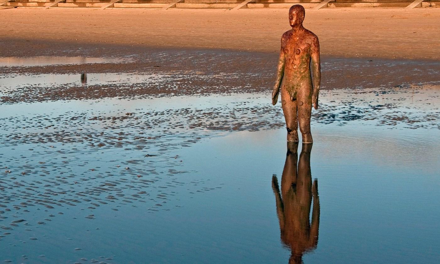 Antony Gormley Statue Reflection