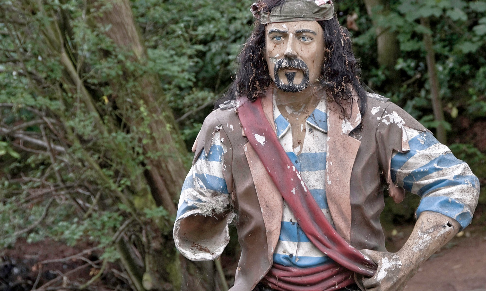 Armless Pirate Figure at Willowpool Gardens