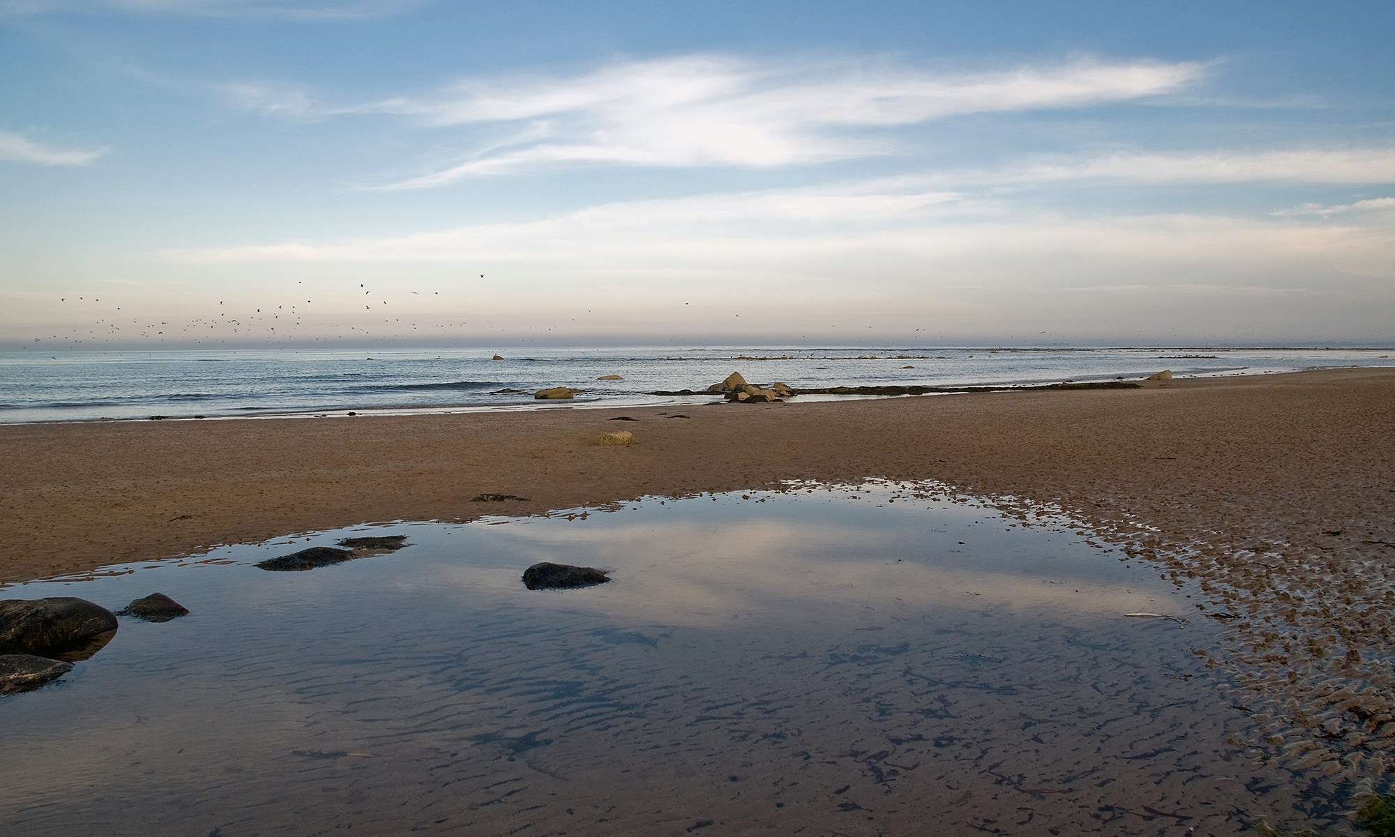Northumberland Coast Reflection
