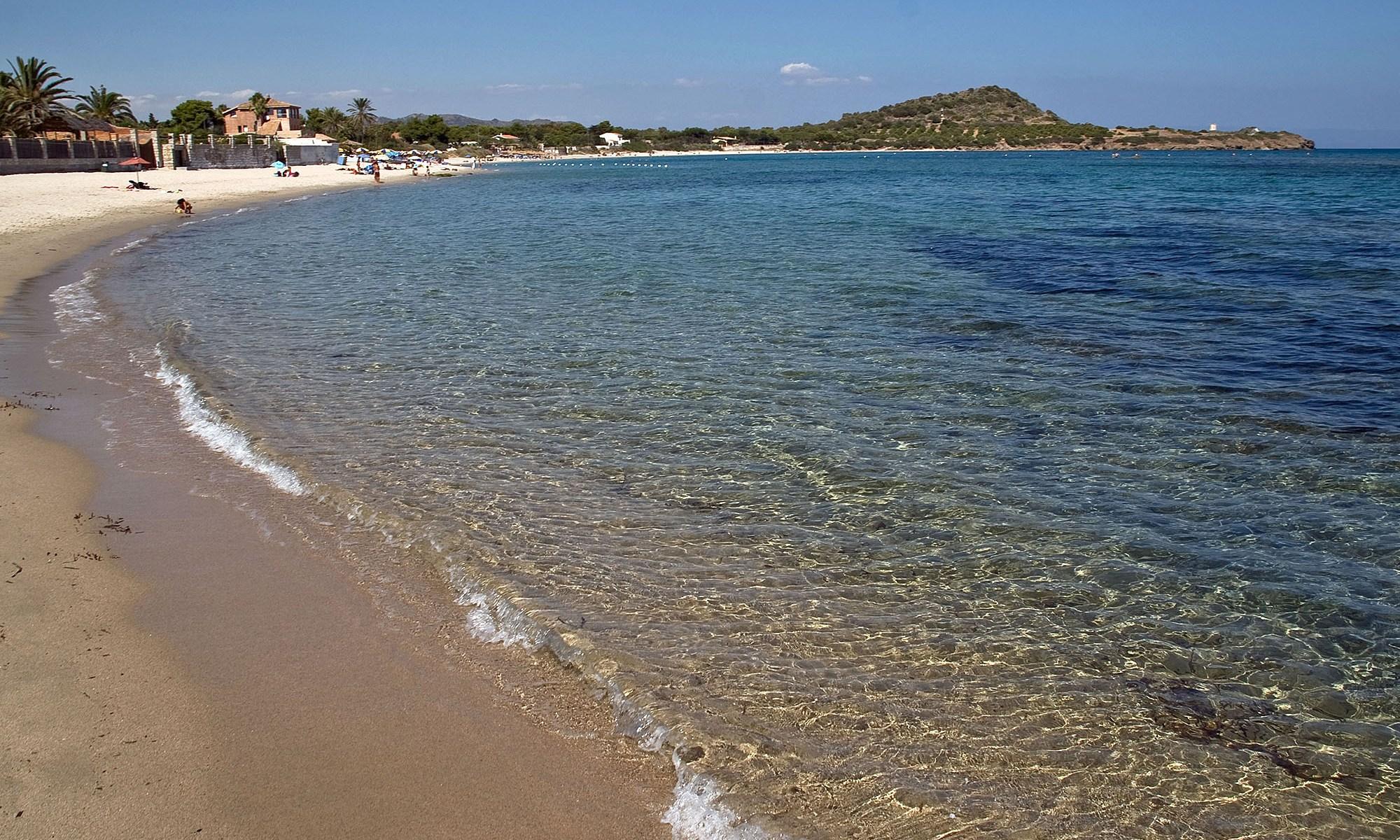 Beach at Pula, Sardinia, Italy