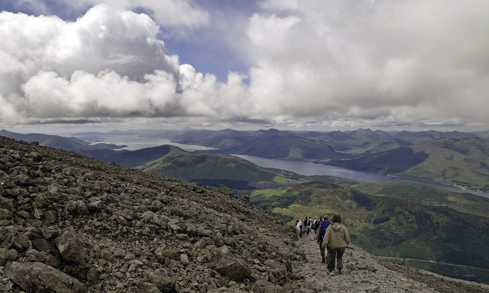 View from Ben Nevis Mountain Track