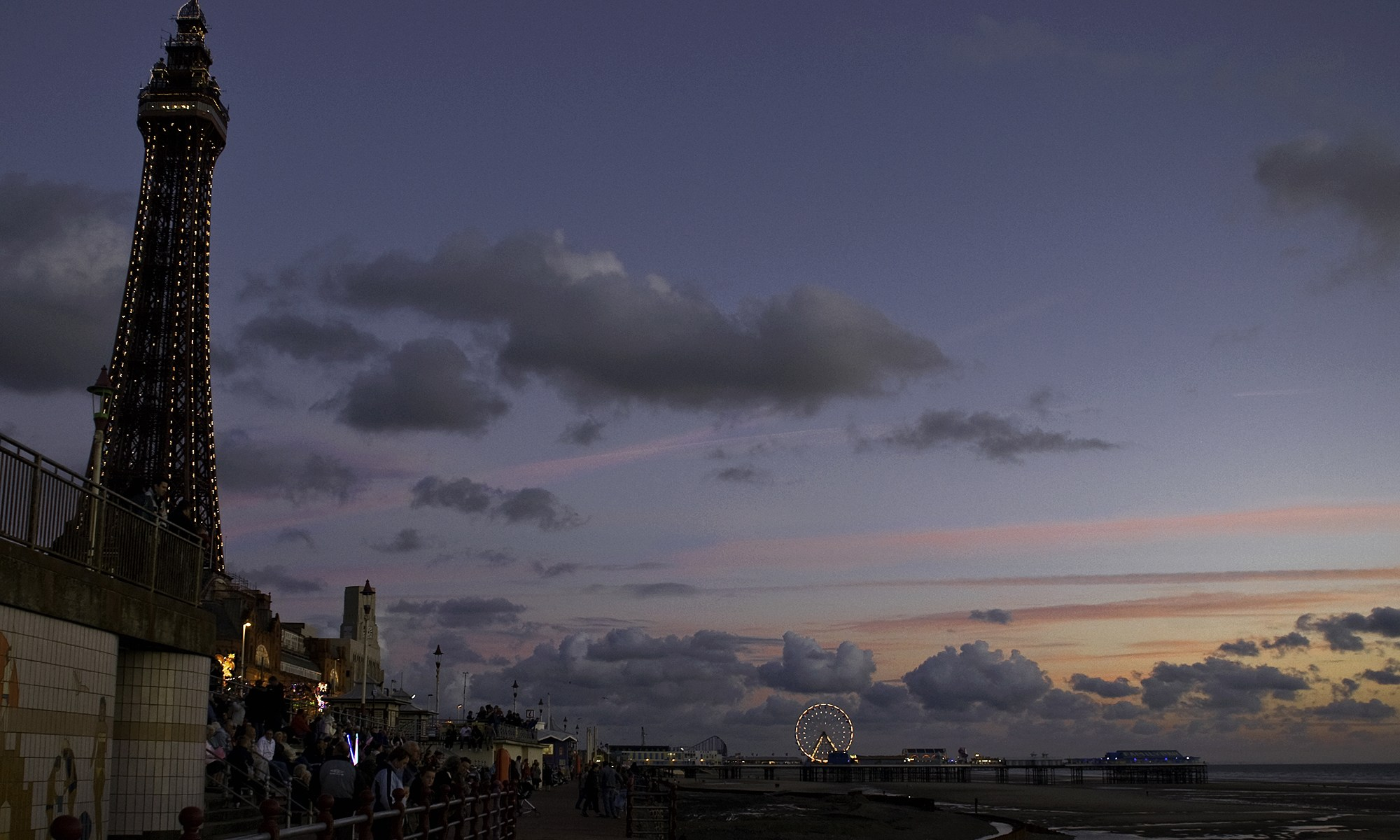 Blackpool Sea Front at Dusk
