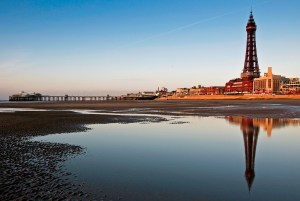 Blackpool Tower Beach Reflection