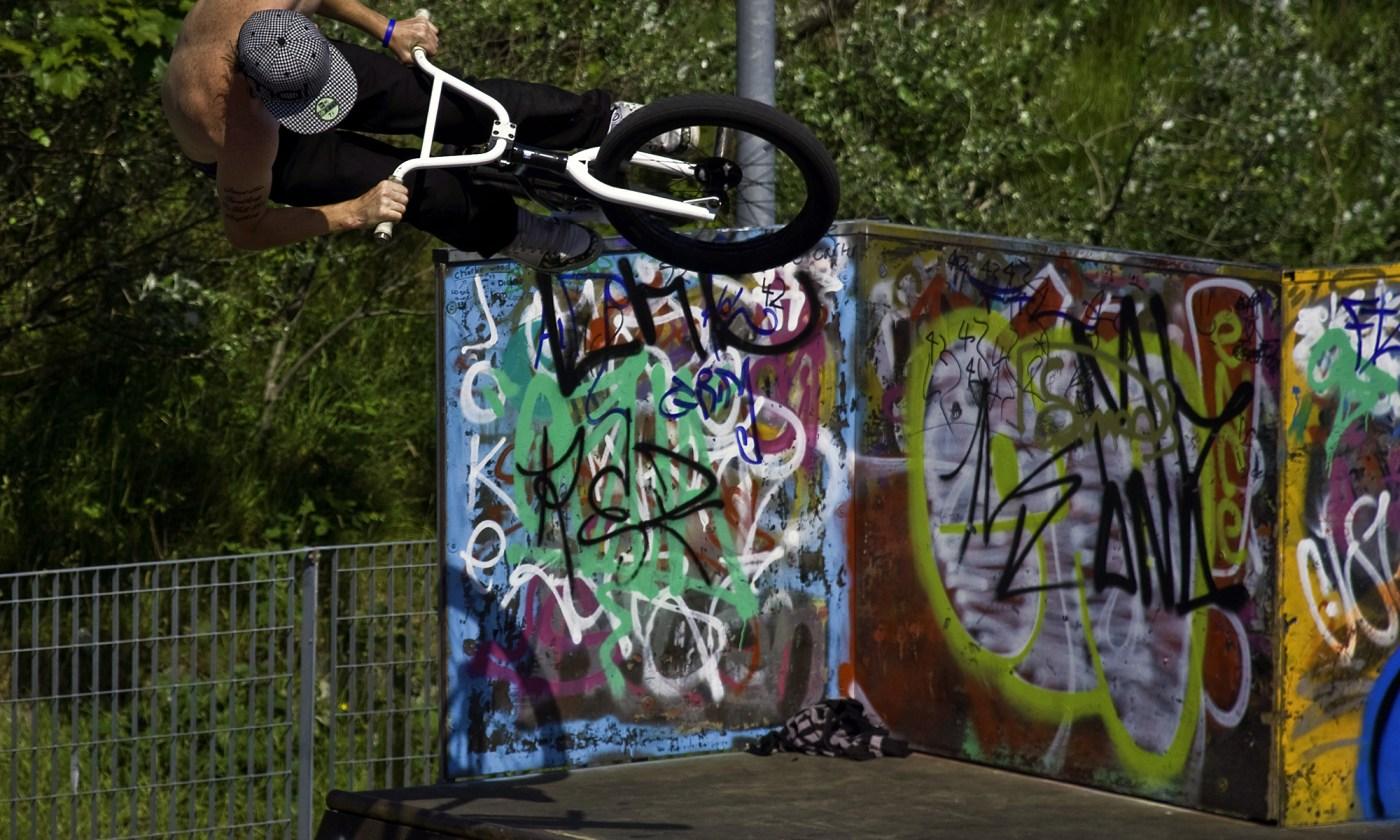 BMX Biker at Southport Skate Park