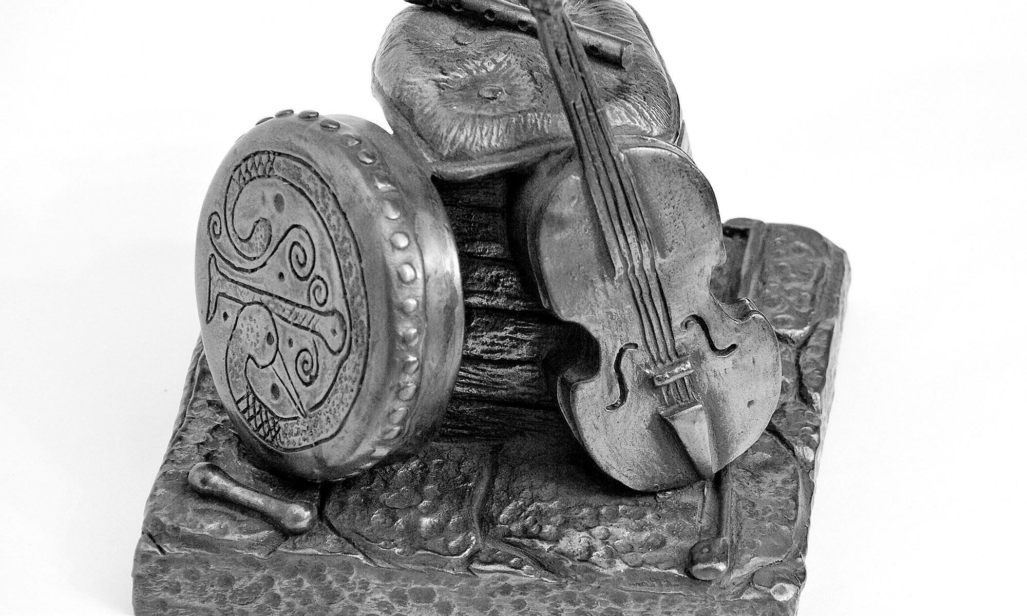Study of Bronze Instruments Statue