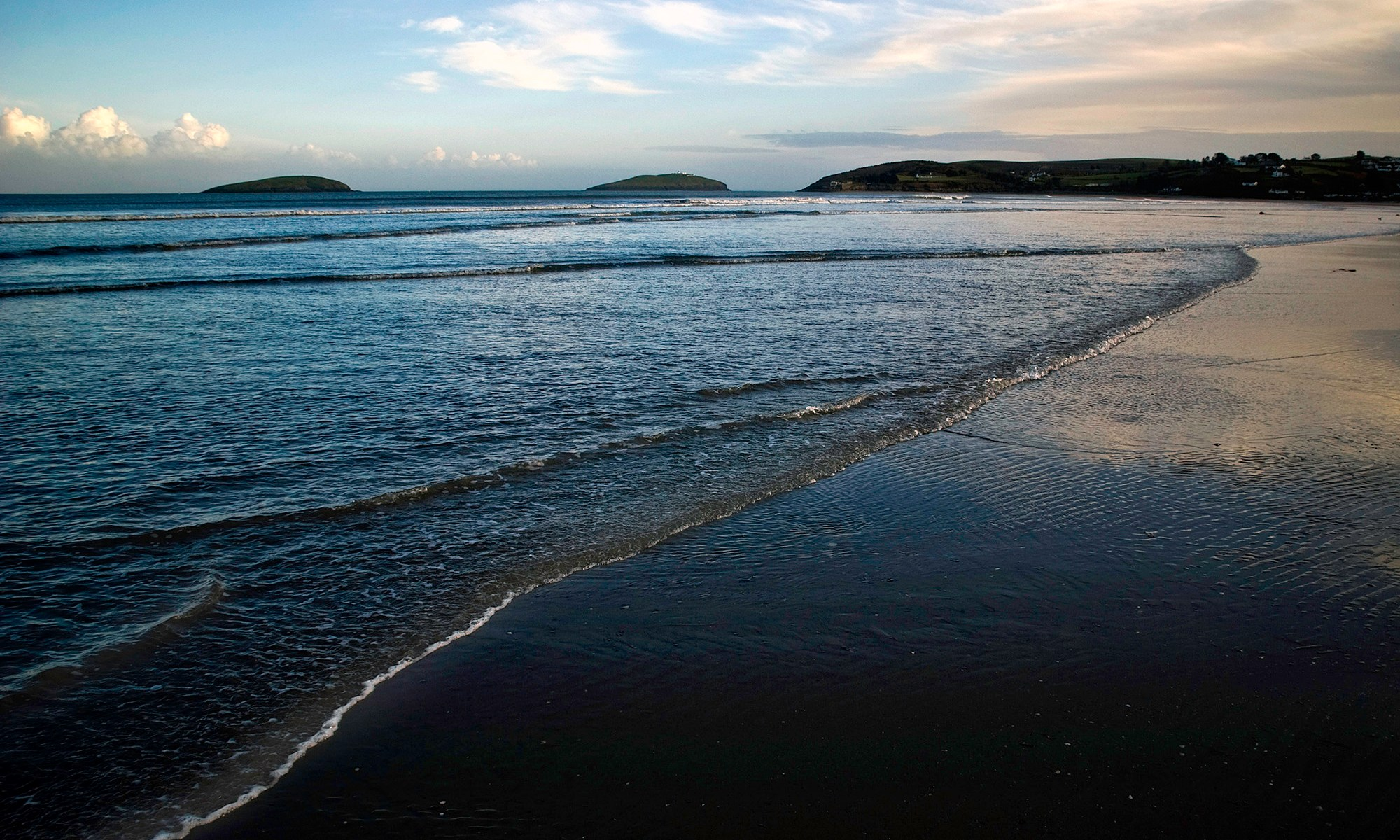 Calm Seas on Abersoch Beach at Dusk