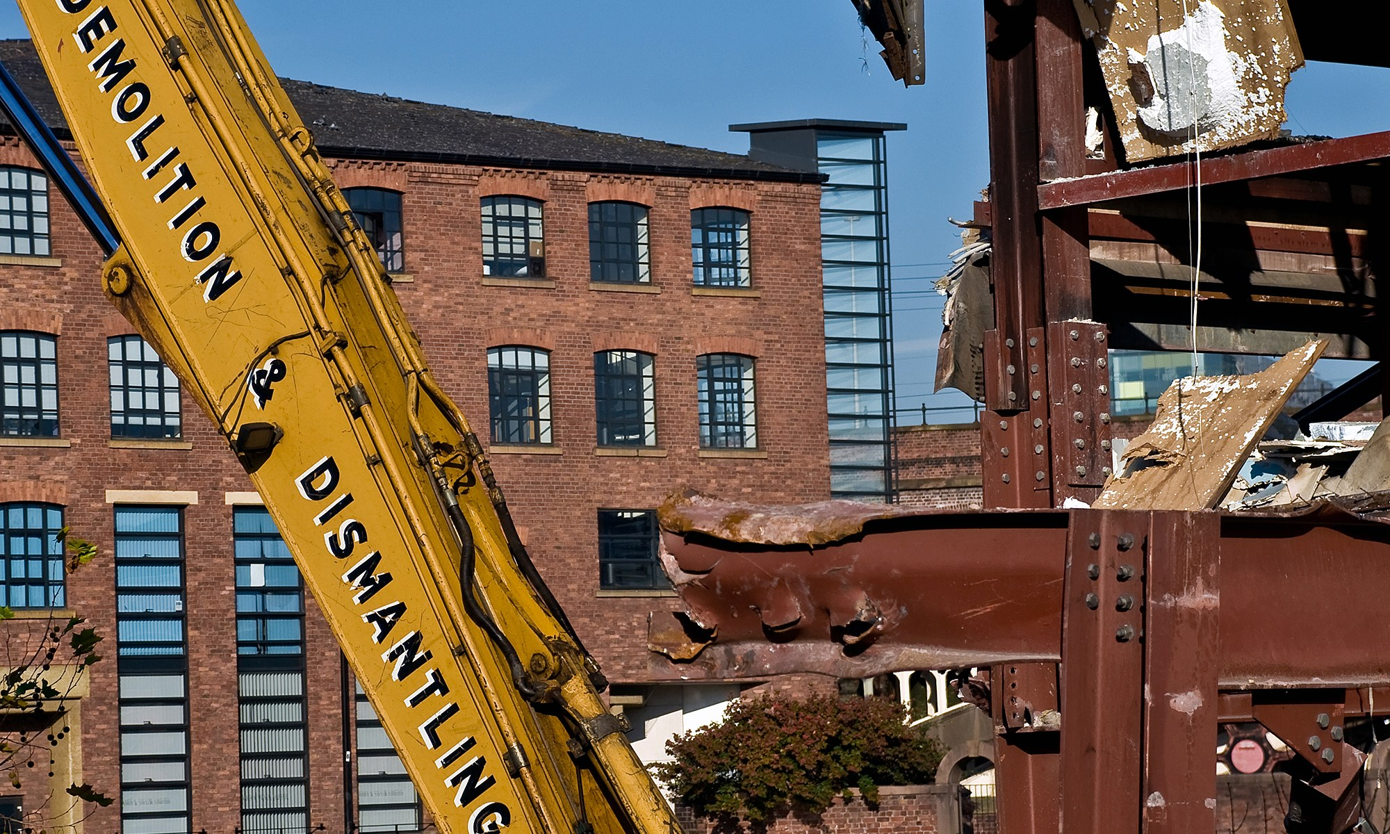 Demolition of Castlefield, Manchester