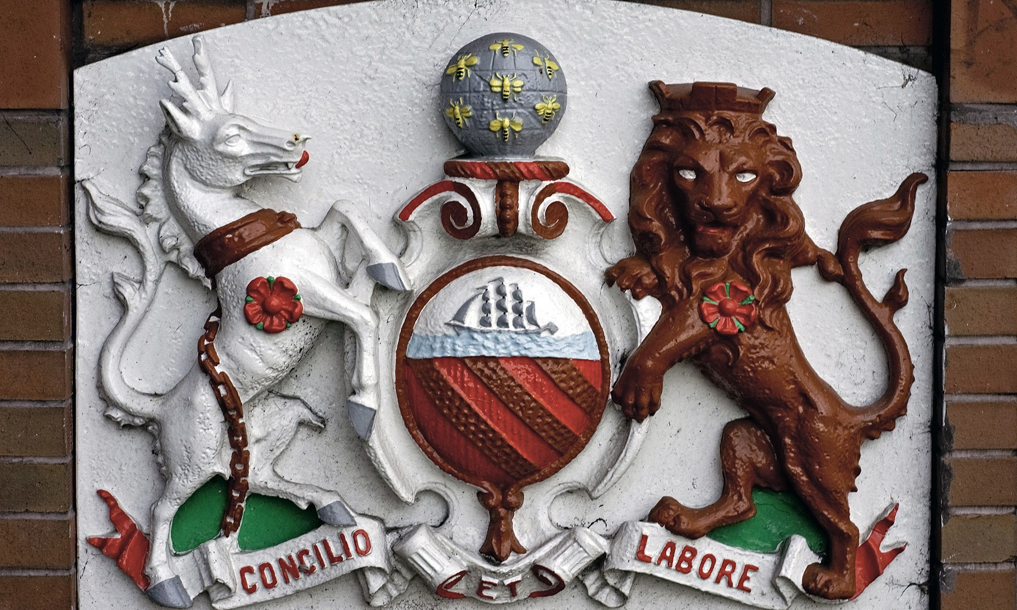 Concilio et Labore - Coat of Arms of Manchester