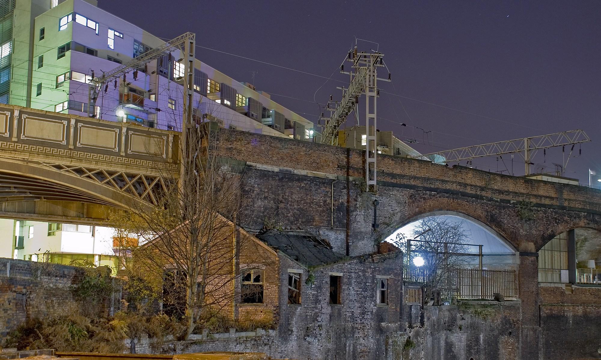 Derelict Building below Oxford Rd Station