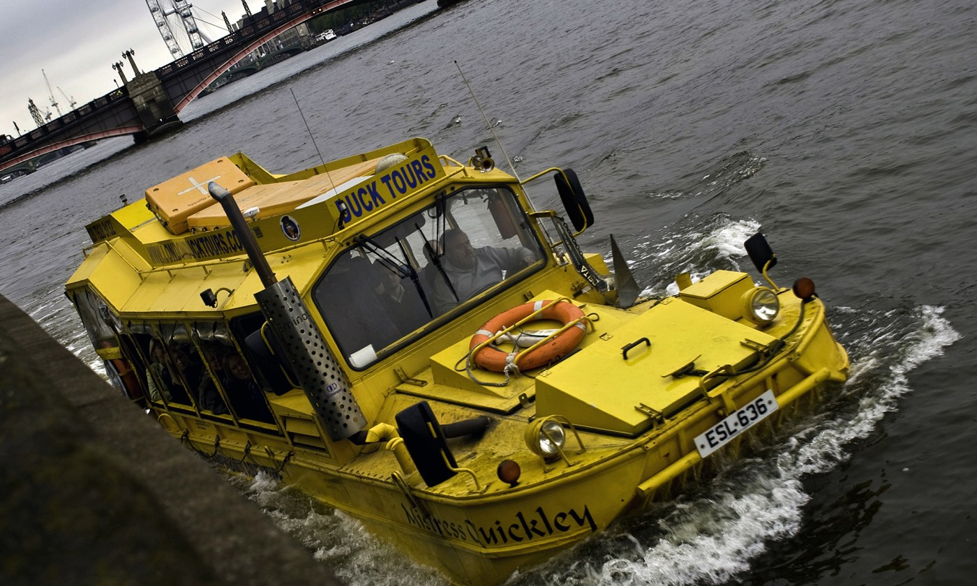 Duck Tours on the River Thames, London