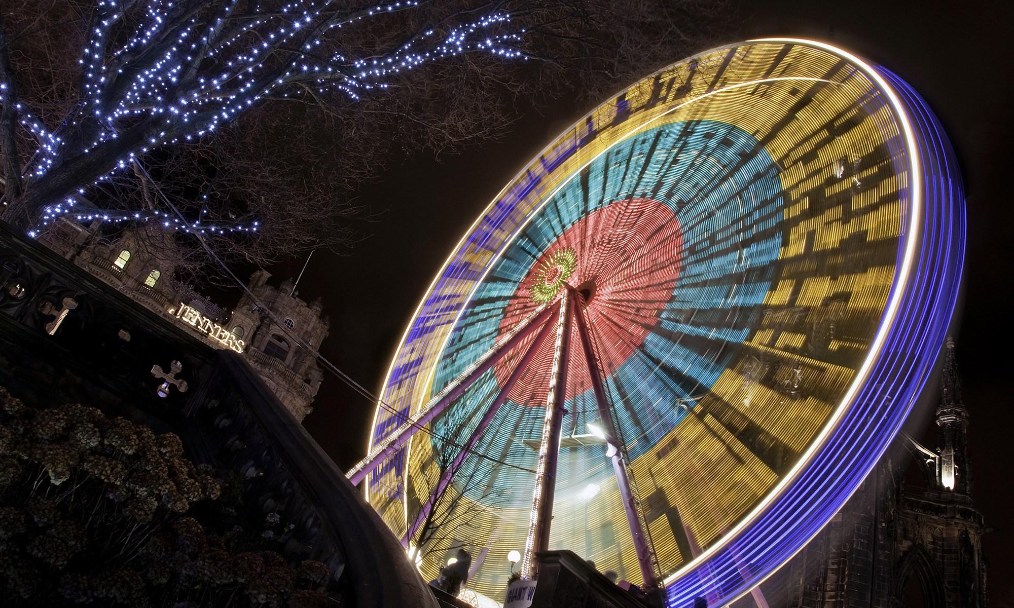 Edinburgh's Big Wheel at Night