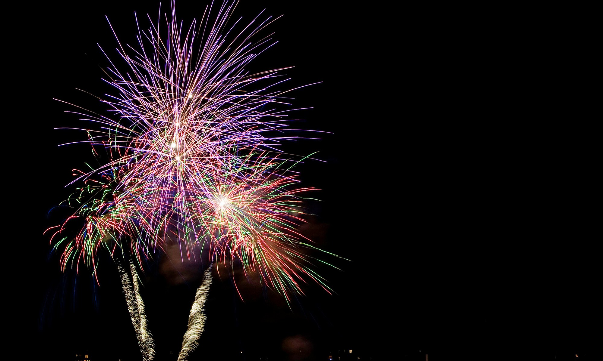 Fireworks at Chester Racecourse