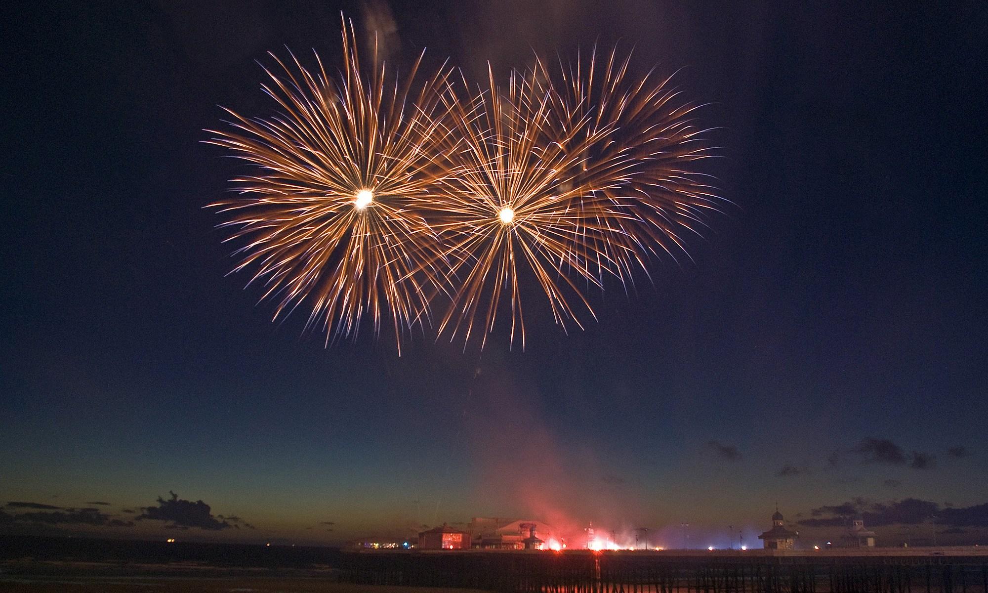 Bonfire Night - Fireworks from Blackpool
