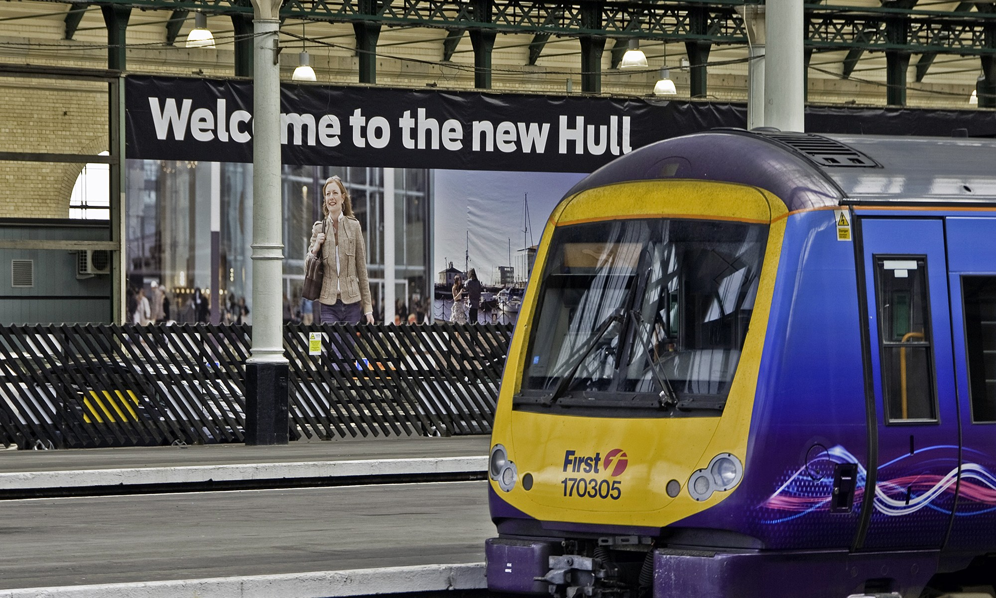 First Train at Hull Station
