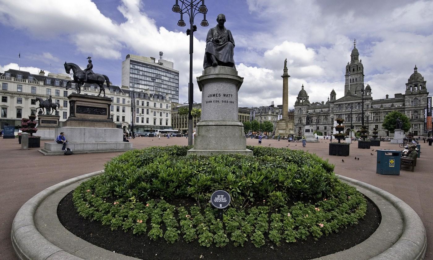 James Watt Statue at George Square, Glasgow