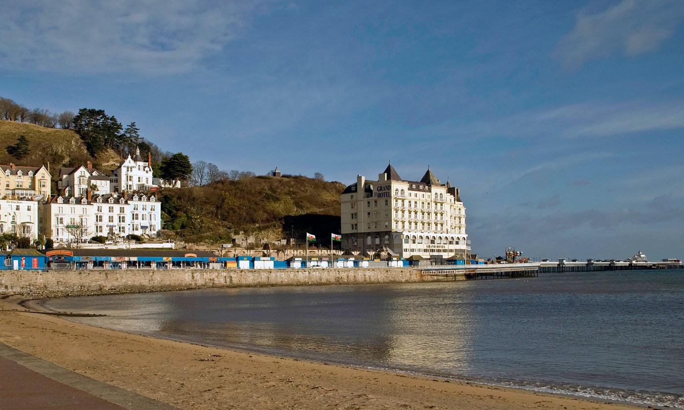 Grand Hotel and Pier, Llandudno, Wales