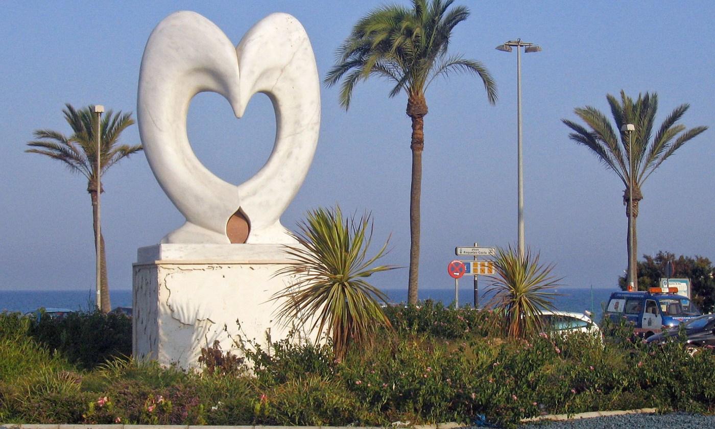Heart Statue Almeria, Spain