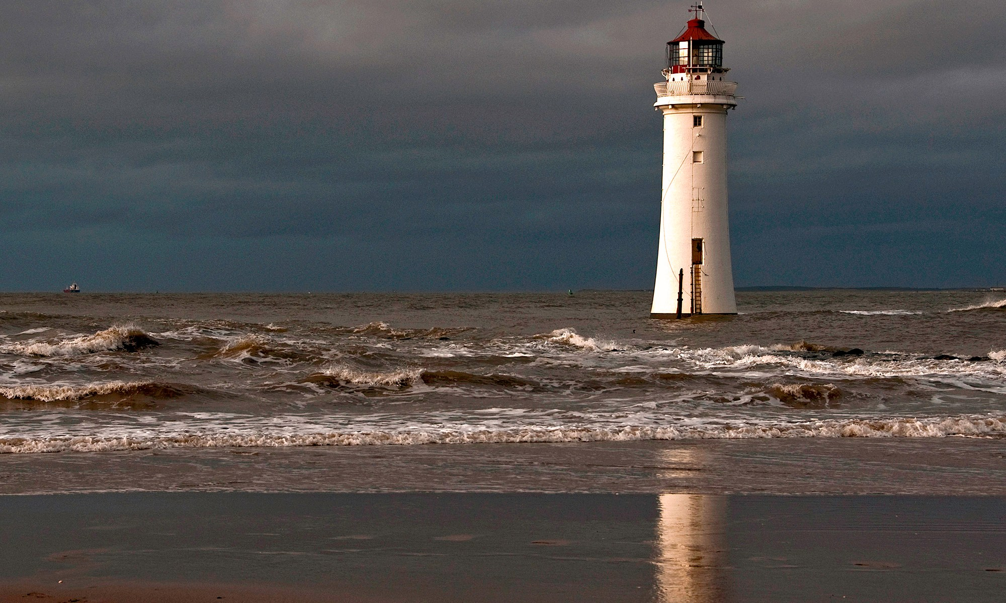 Lighthouse at New Brighton, Merseyside