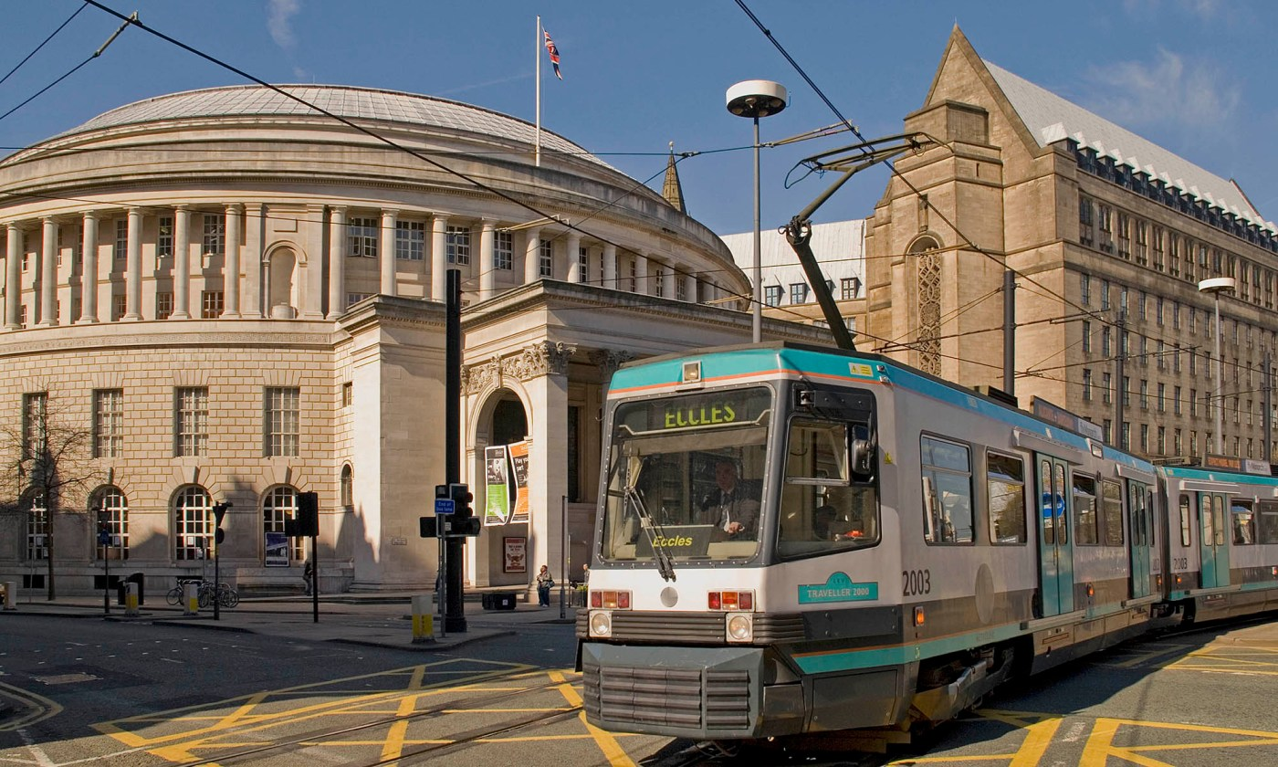 Metrolink at Saint Peter's Square, Manchester