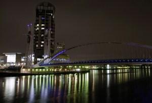 Millennium Bridge at Night, Salford Quays