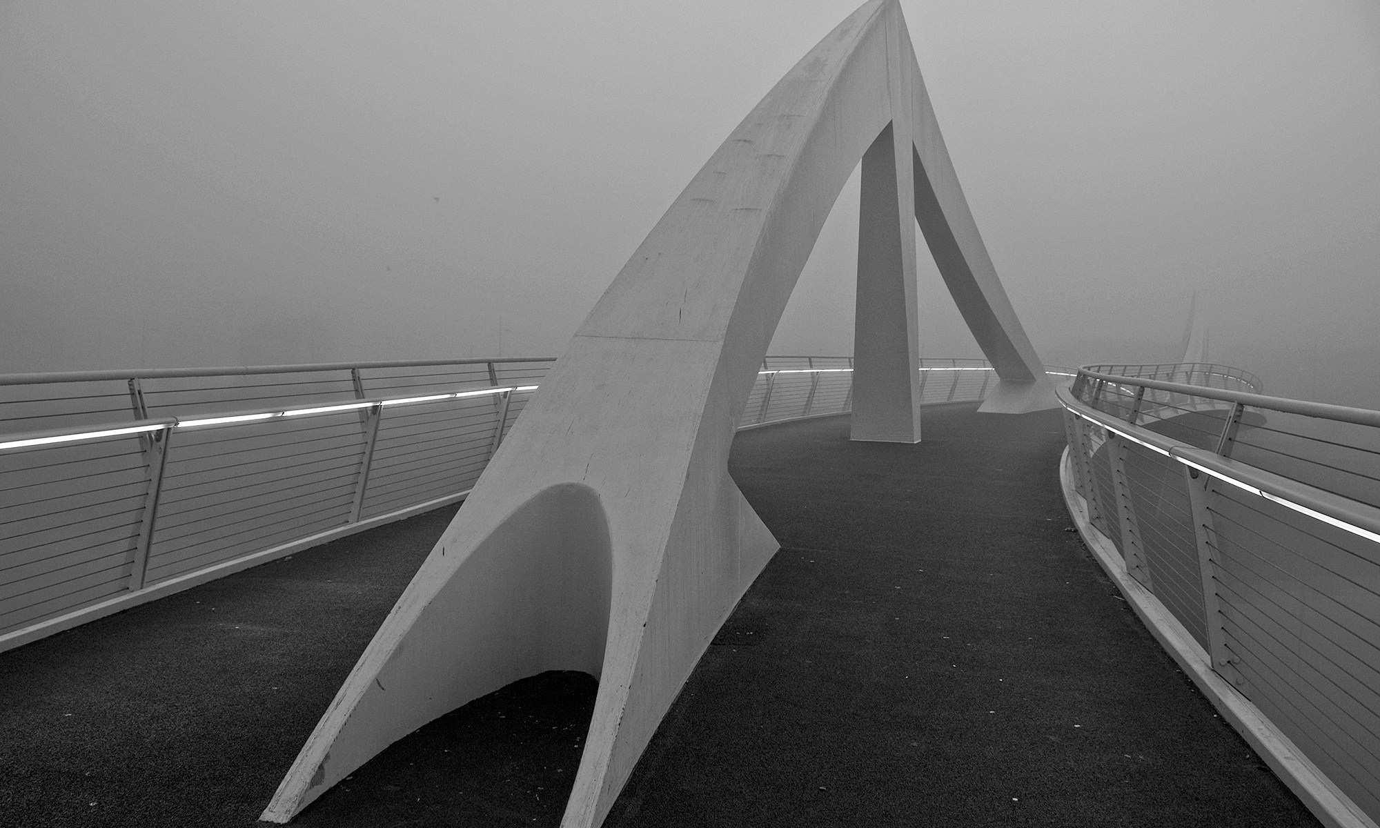 Tradeston Bridge Glasgow in the Mist