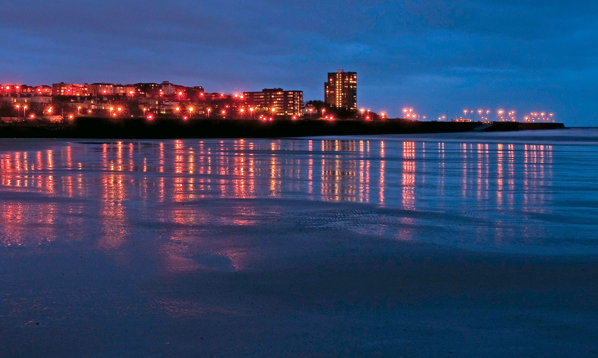 New Brighton Promenade at Night