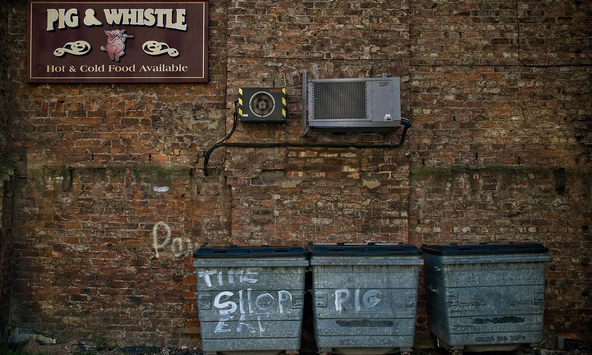 Behind the Pig & Whistle Pub, Liverpool