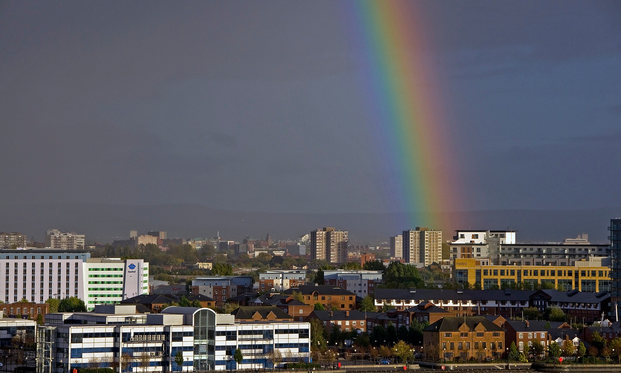 Rainbow over Hulme - Manchester