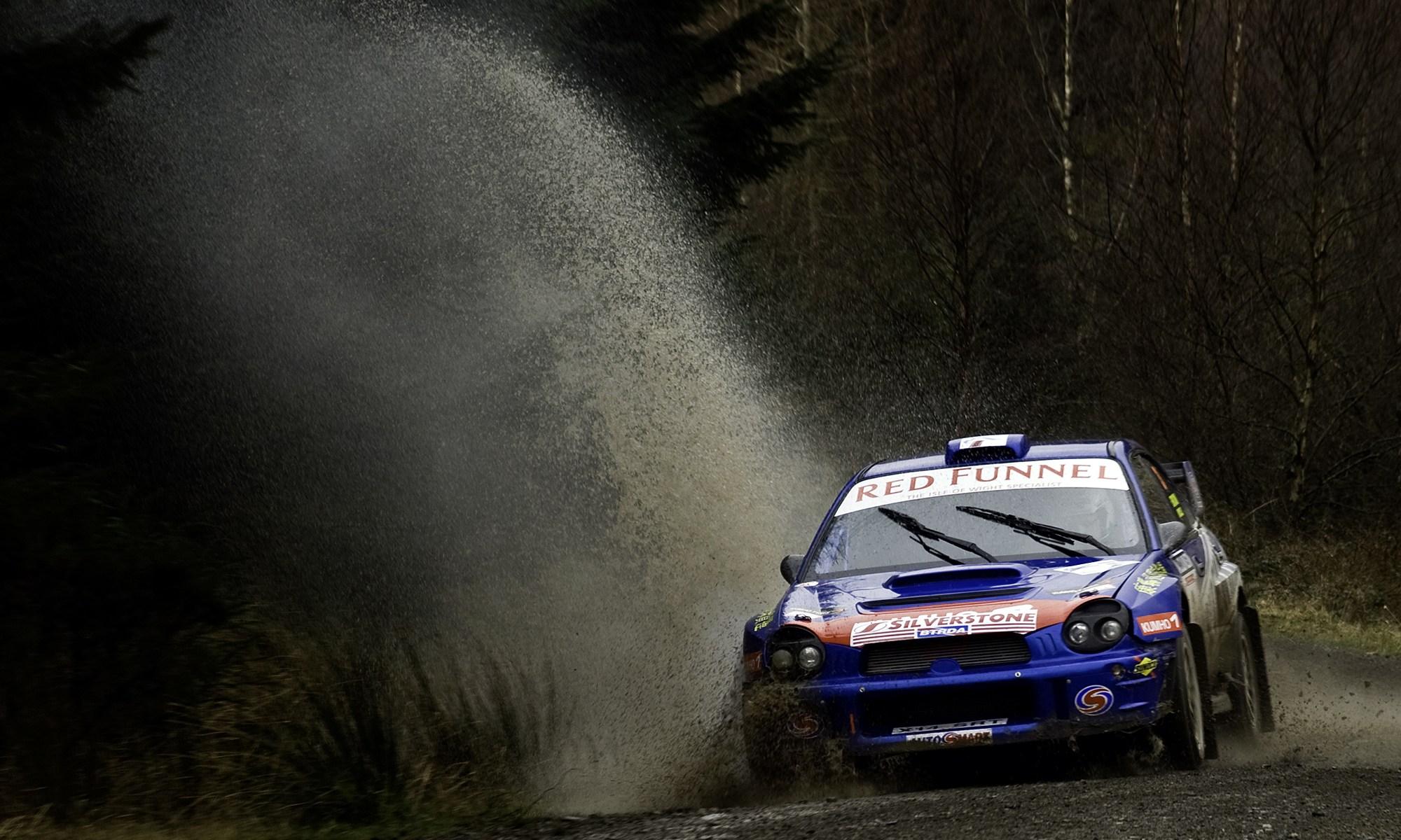 Subaru Impreza at Malcolm Wilson Rally